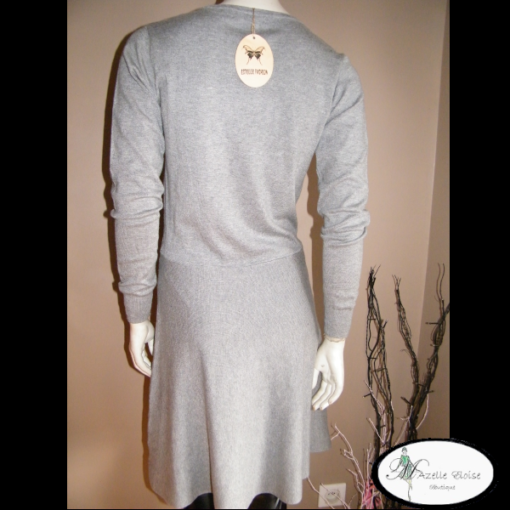 robe pull gris clair unique mazelleeloise mode occasion ain