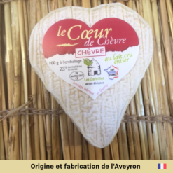 fromage coeur chevre Alvignac Aveyron france fromagerie marion amberieu bugey ain livraison jeannette