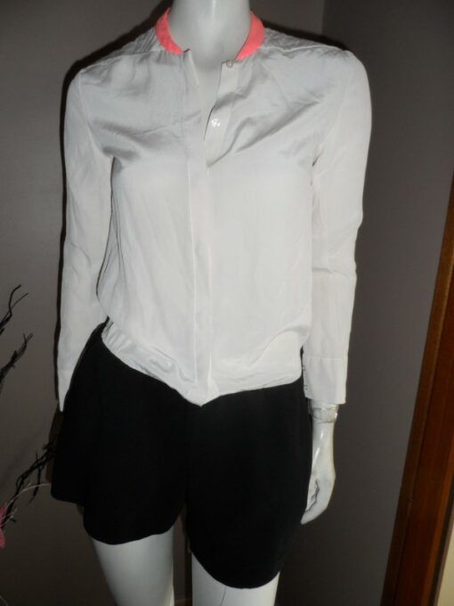 chemise col mao maje taille 36
